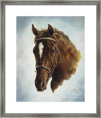 The Jumper Framed Print by Cathy Cleveland