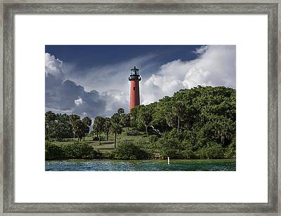 The Jupiter Inlet Lighthouse Framed Print by Laura Fasulo