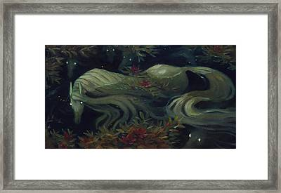 The Kelpie Pond Framed Print by Jaimie Whitbread