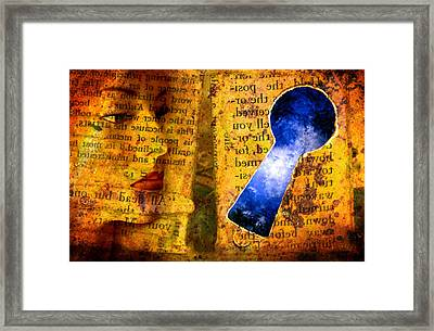 The Key Hole Framed Print by Andre Giovina