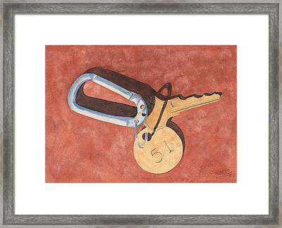 The Keys To Area 51 Framed Print by Ken Powers