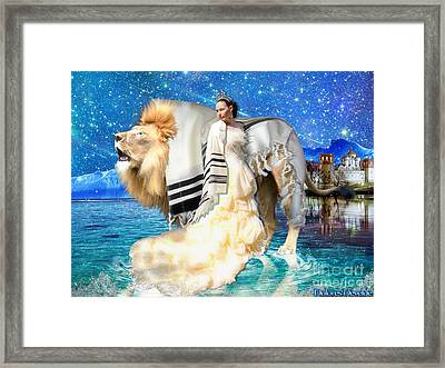 The King And His Bride Framed Print by Dolores Develde