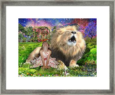 The King And I Framed Print by Dolores Develde