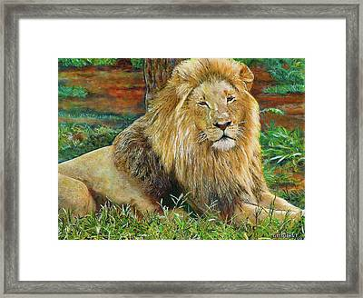 The King Framed Print by Michael Durst