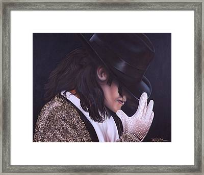 The King Of Pop Framed Print by Darren Robinson