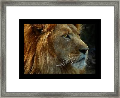 The King Framed Print by Ricky Barnard