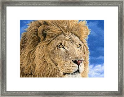 The King Framed Print by Sarah Batalka