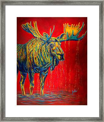 The King Framed Print by Teshia Art