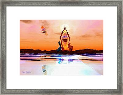 The Kingdom Of Orb Framed Print by Wayne Bonney