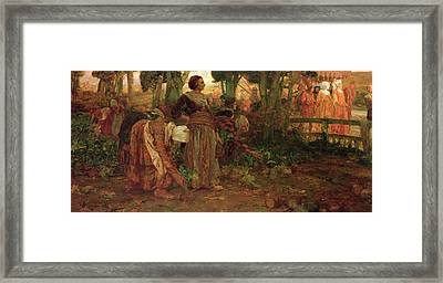 The King's Daughter Framed Print by Arthur A Dixon