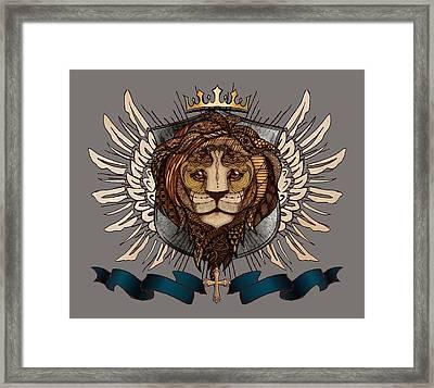 The King's Heraldry II Framed Print by April Moen