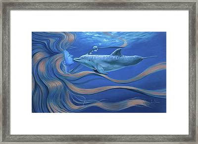The Kiss Framed Print by Lucie Bilodeau