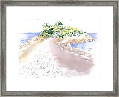 The Knob In Falmouth Framed Print by Joseph Gallant