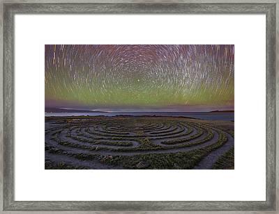 The Labyrinth And The Universe Framed Print by Todd Kawasaki