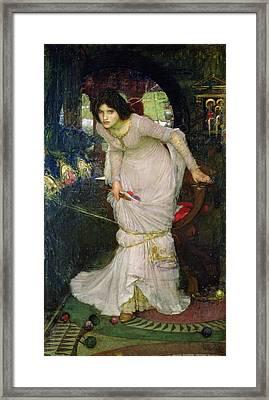 The Lady Of Shalott Framed Print by John William Waterhouse