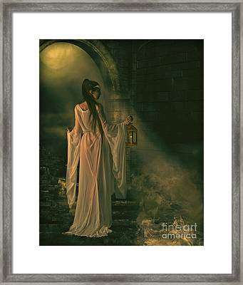 The Lady Of Shalott Framed Print by Shanina Conway