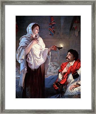 The Lady With The Lamp, Florence Framed Print by Science Source