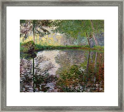 The Lake At Montgeron Framed Print by Claude Monet