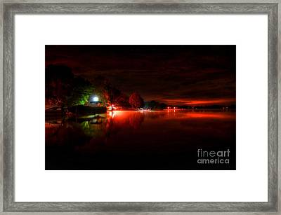 The Lake At Nightfall Framed Print by Michael Garyet