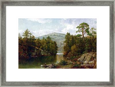 The Lake George Framed Print by David Johnson