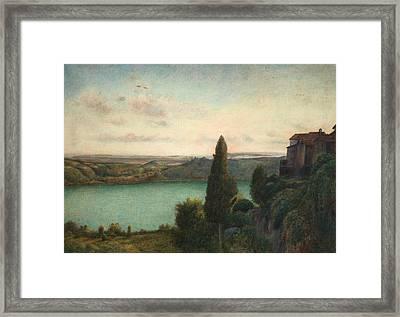 The Lake Of Nemi Framed Print by Marie Spartali Stillman