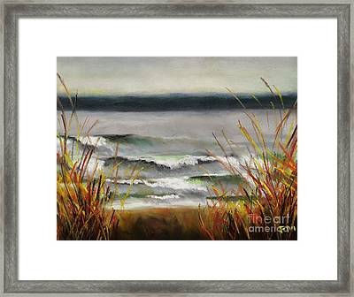 The Lake Shore Framed Print by Frances Marino