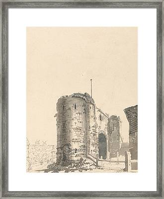 The Land Gate, Rye, Sussex Framed Print by Thomas Girtin