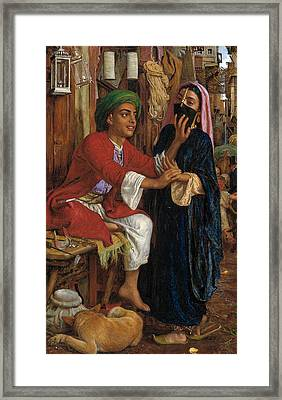 The Lantern Maker's Courtship, A Street Scene In Cairo  Framed Print by William Holman Hunt