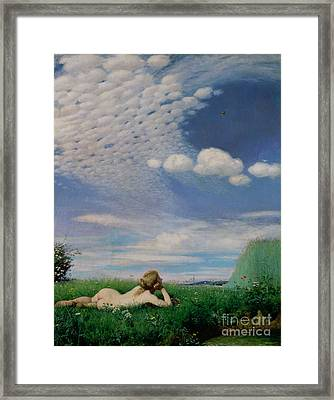 The Lark Framed Print by Pal Szinyei Merse