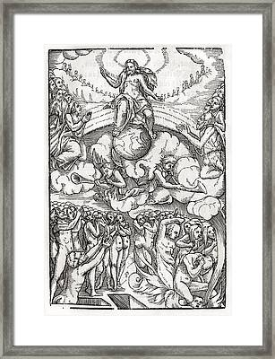 The Last Judgement Loosely Based On Framed Print by Vintage Design Pics