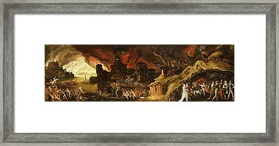 The Last Judgment And The Seven Deadly Sins Framed Print by Jacob van Swanenburg