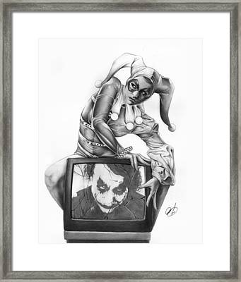 The Last Laugh Framed Print by Pete Tapang