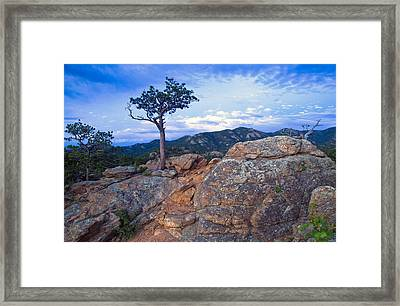 The Last Of The Sunset Framed Print by James Steele