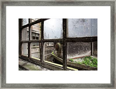 The Last  Pieces Of Glass - Urban Exploration Framed Print by Dirk Ercken