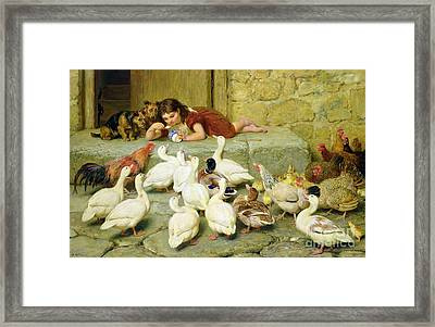 The Last Spoonful Framed Print by Briton Riviere