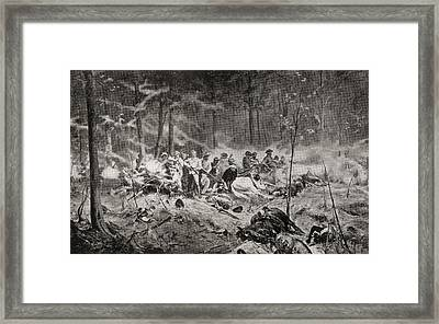 The Last Stand Of Major Allan Wilson On Framed Print by Vintage Design Pics