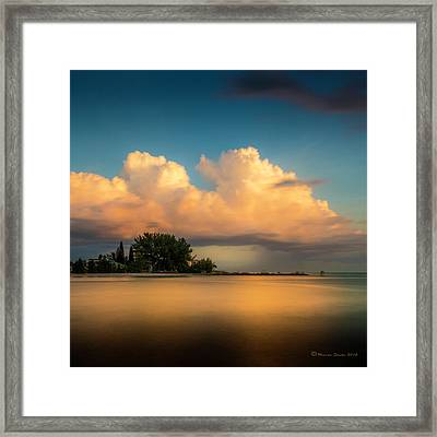 The Last Summer Storm Framed Print by Marvin Spates