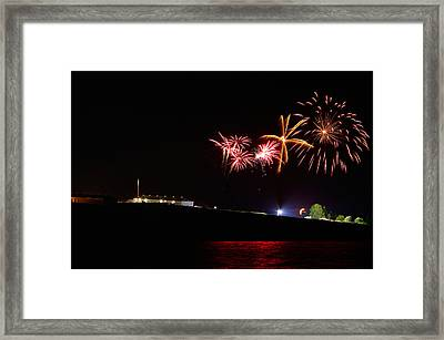 The Last Sunset Ceremony Fireworks Of The Year Framed Print by Paul Wash