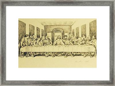 The Last Supper 2015 Framed Print by Hae Kim