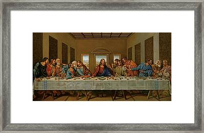 The Last Supper A Rendition Framed Print by Alan Carlson