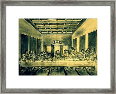 The Last Supper Framed Print by Azhar Khan