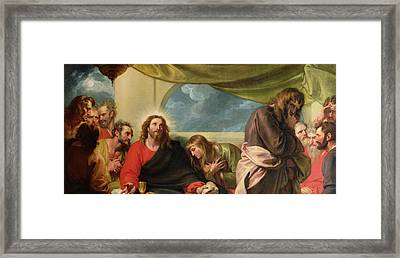 The Last Supper Framed Print by Benjamin West
