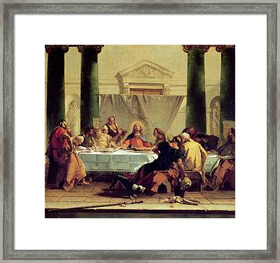 The Last Supper Framed Print by Giovanni Battista Tiepolo