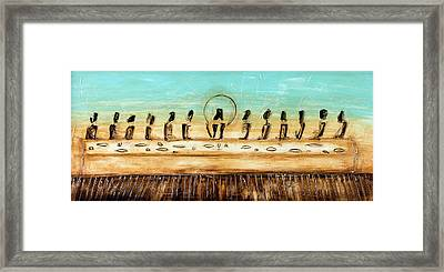 The Last Supper Framed Print by Ivan  Guaderrama