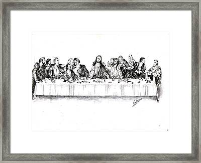 The Last Supper Framed Print by Ranjith Kp