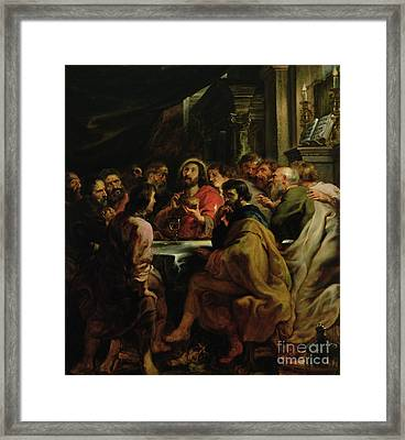The Last Supper Framed Print by Rubens