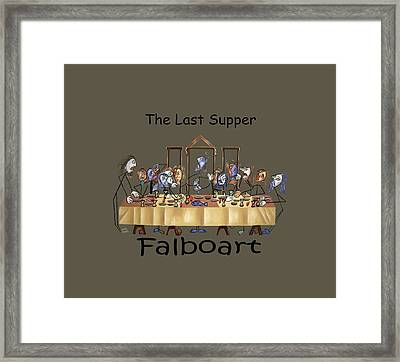 The Last Supper T-shirt By Anthony Falbo Framed Print by Anthony Falbo
