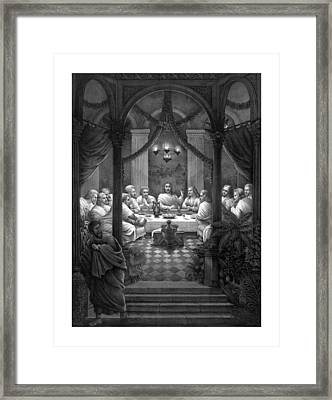 The Last Supper Framed Print by War Is Hell Store