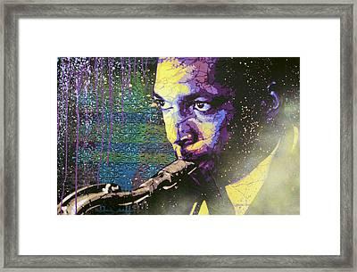 The Last Trane Framed Print by Bobby Zeik