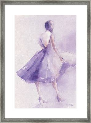 The Lavender Dress Framed Print by Beverly Brown Prints